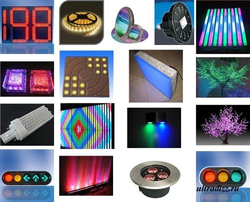 декоративные светодиодные светильники и лампы