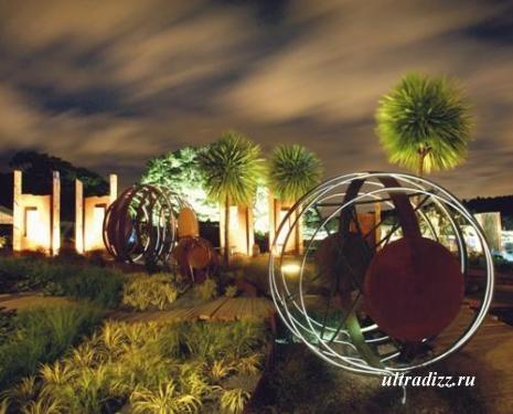 светодиодное освещение в ландшафте