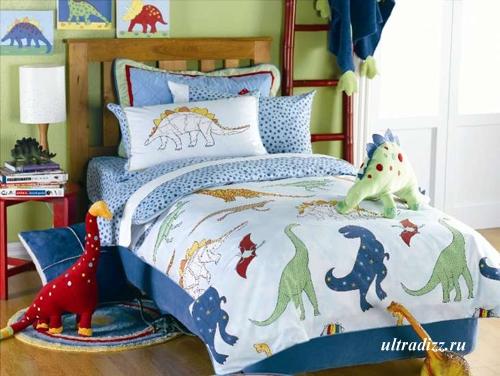 динозавры в интерьере детской