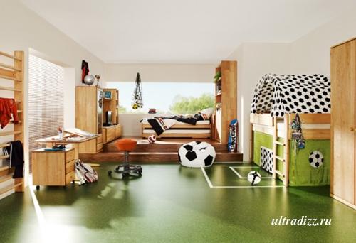 футбольный дизайн детской