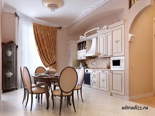 визуализация кухонного интерьера