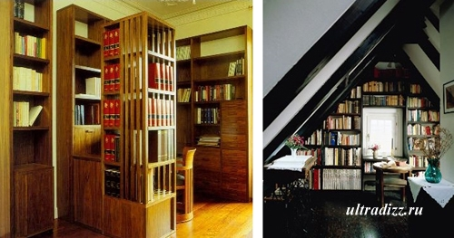 библиотека в современном интерьере