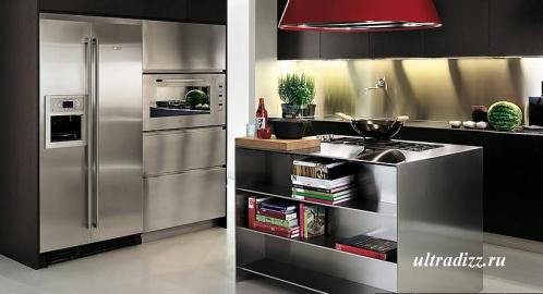 мини библиотека на кухне