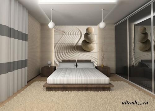 фотоплитка в спальне