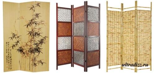 бамбуковые ширмы