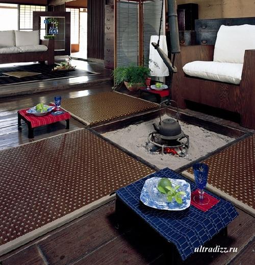 напольное покрытие в японском доме