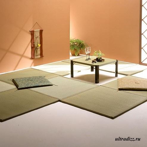 традиционное японское напольное покрытие