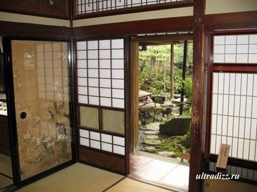 раздвижные двери в японском дизайне