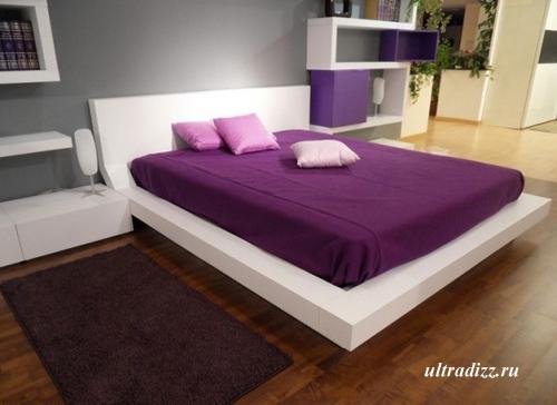 современные сочетания цветов в спальне