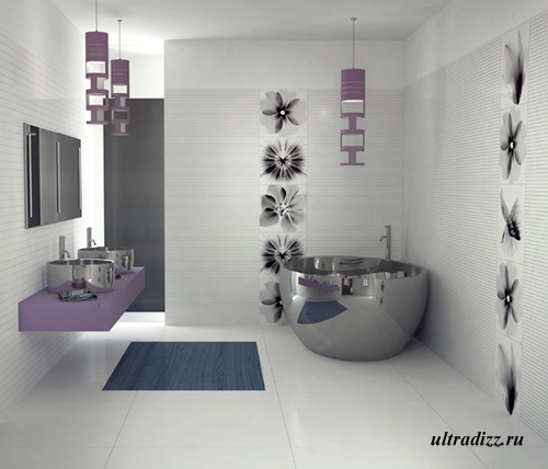 стильный интерьер ванной