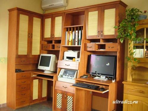 мебельные дверки с бамбуковым декором