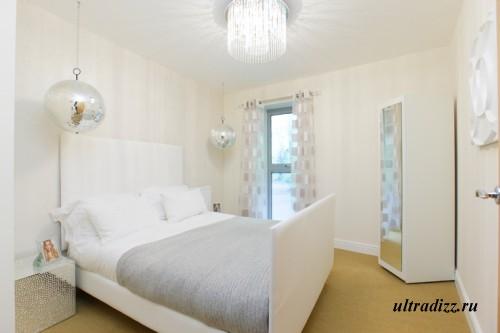 белая спальня современного стиля