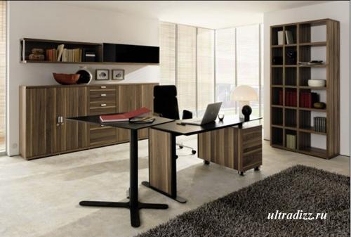 современная мебель для кабинета в доме