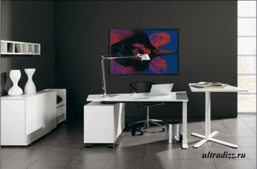 стильный современный домашний кабинет