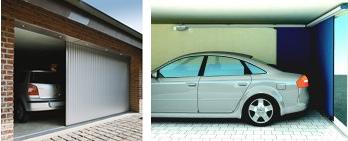 раздвижные угловые гаражные ворота