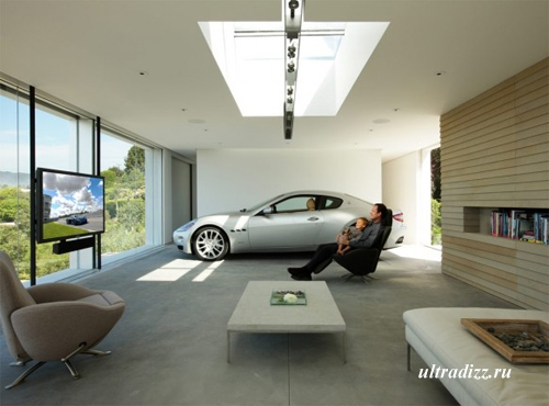 современный гараж класса люкс