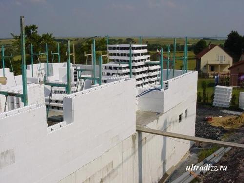 возведение стен второго этажа