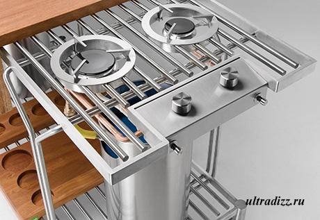 фрагмент модуля летней кухни