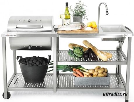 легкий модуль летней кухни