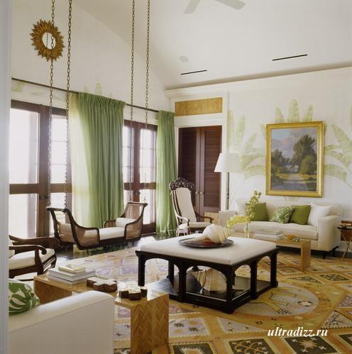 дизайн гостиной в египетском стиле