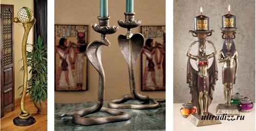 светильники в египетском стиле