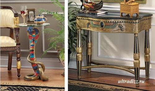 предметы интерьера в египетском стиле