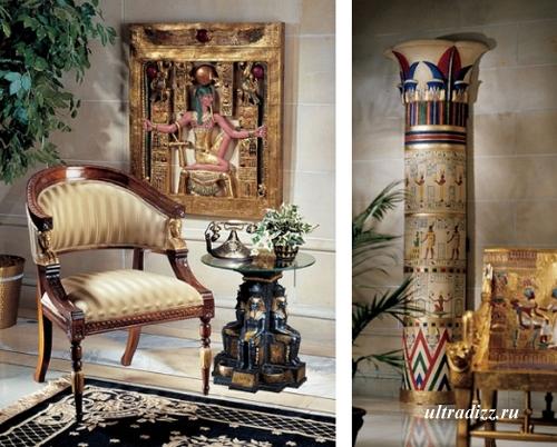 элементы интерьера в египетском стиле
