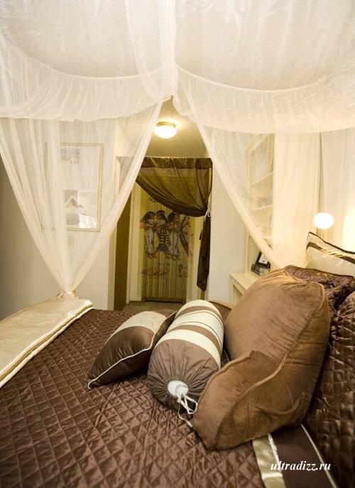 интерьер спальни в египетском стиле