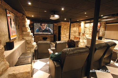 интерьер домашнего кинотеатра 4