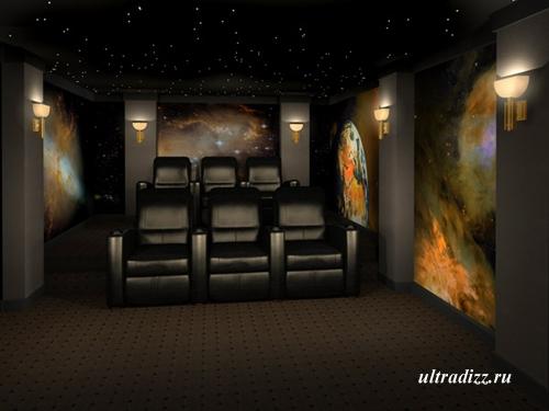 интерьер домашнего кинотеатра 10