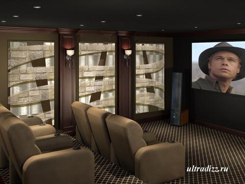 интерьер домашнего кинотеатра 13
