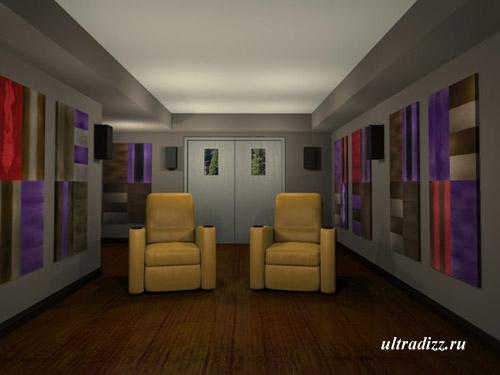 интерьер домашнего кинотеатра 12
