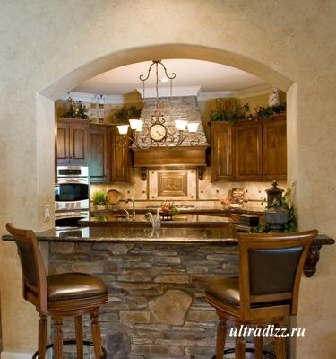 интерьер кухни в тосканском стиле