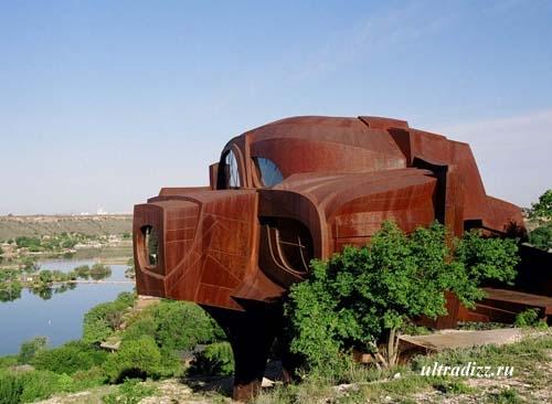 внешний вид металлического дома