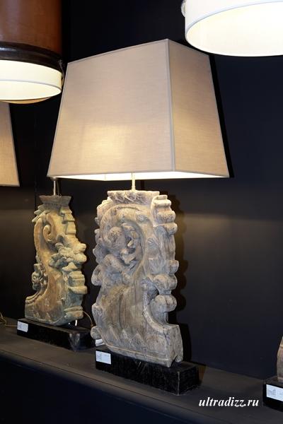 лампы в стиле кантри