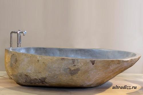 каменная ванна в стиле кантри