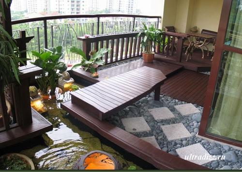 современный сад на балконе