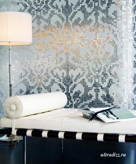 мозаика в современной гостиной