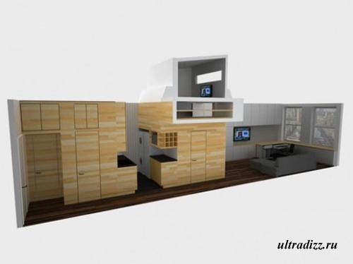 схема зон в маленькой квартире