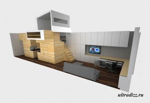 схематический план маленькой квартиры
