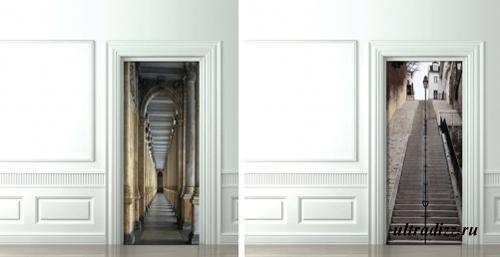 оригинальные стикеры на двери