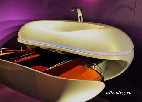 футуристическая раковина для ванной