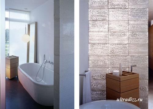 стена из литракона в ванной