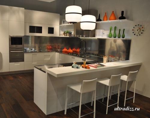 барная стойка в дизайне современной кухни