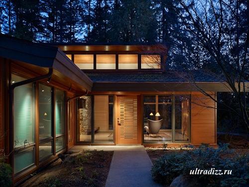 частный дом в лесу