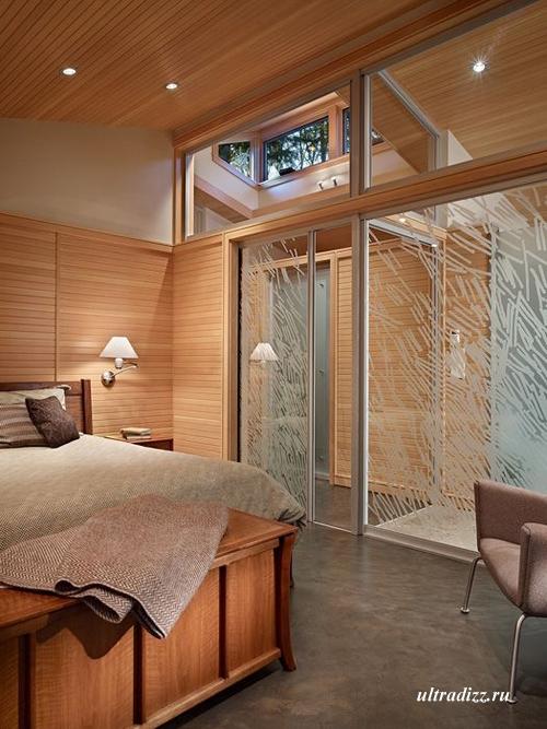 интерьер спальни частного дома