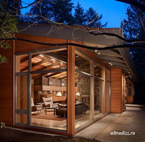 современный лесной дом