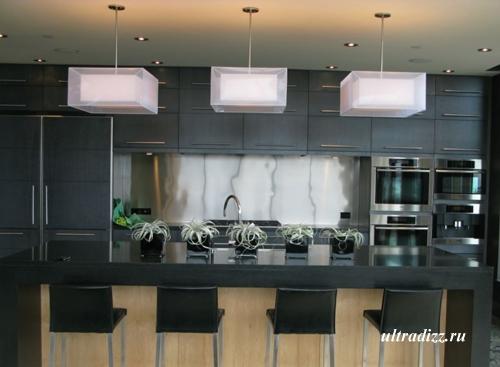 кухня в интерьере пентхауса