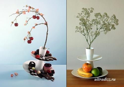 ваза с блюдом