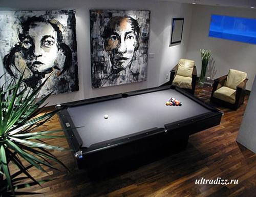 бильярдная комната в современном стиле